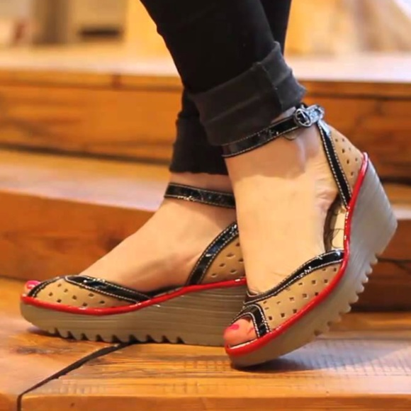 883fa60ba1f23 Fly London Shoes | Ydel Wedge Sandals With Box | Poshmark